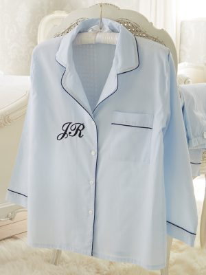 Classic Blue Cotton Pyjamas