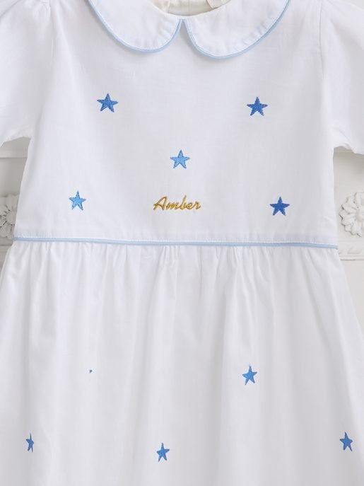 Blue Star Collar Dress