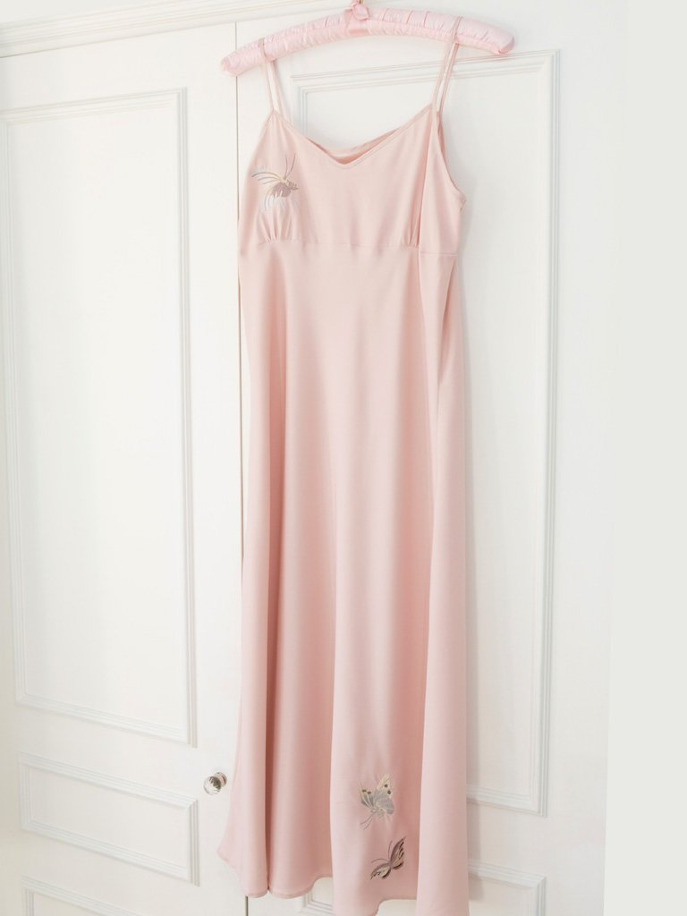 Pink Butterfly Nightdress Long