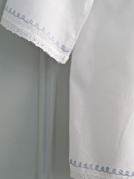Women\'s White Cotton Dressing Gown | Lunn Antiques