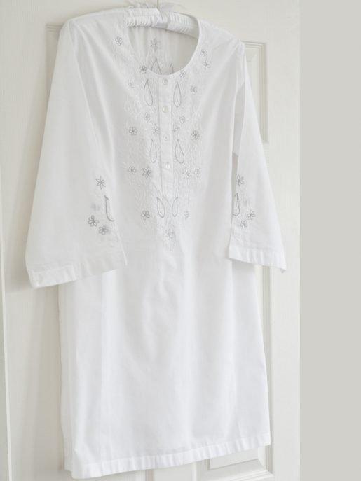 Silver Paisley Nightdress