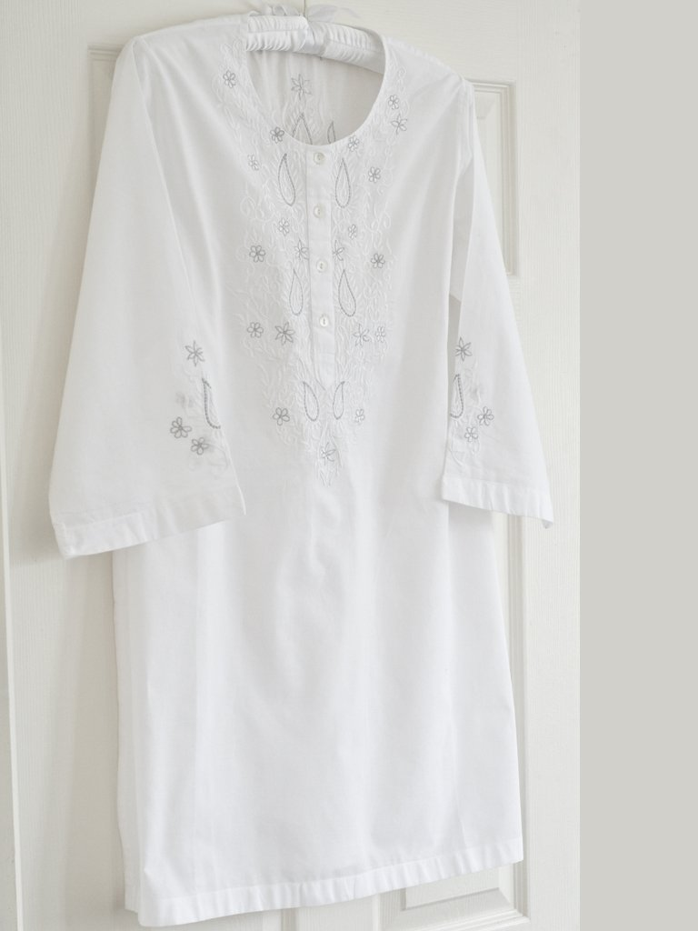 Silver Paisley Nightdress