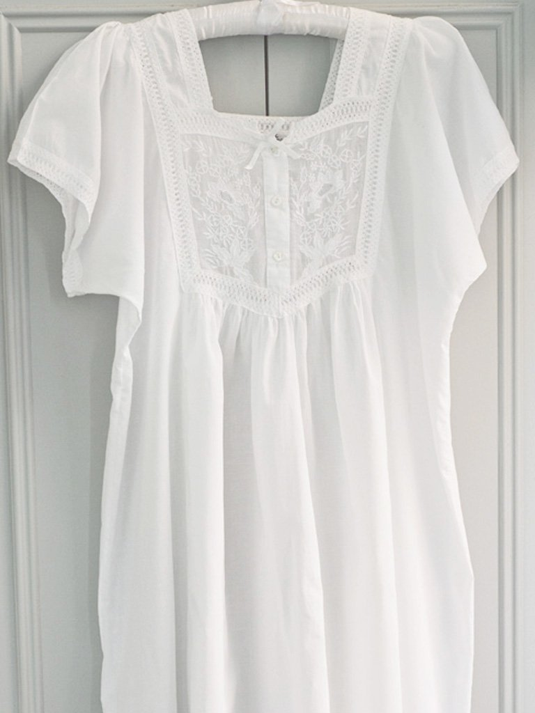 Front Panel Cotton Nightdress