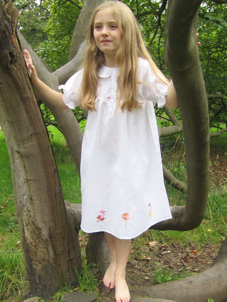 Gingerbread Cotton Nightdress - Lunn Antiques