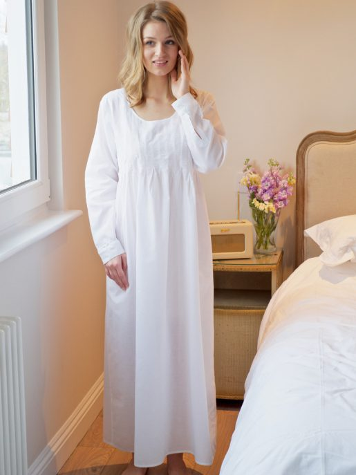 Lizzie Long Sleeve Cotton Victorian Style Nightdress by Lunn Antiques b50654868