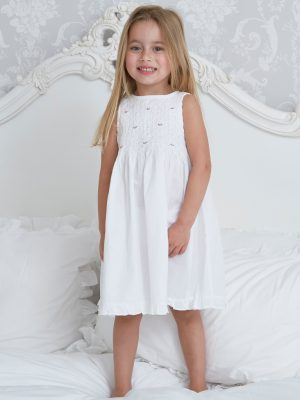 Mini Smocked Cotton Dress