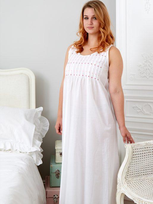 Pink Lizzie Cotton Victorian Style Nightdress