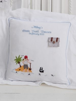 Pirate Tooth Treasure Baby Cushion Cover