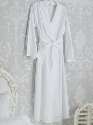 Polka Dot Cotton Dressing Gown