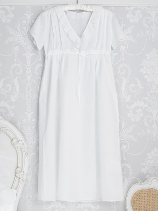 Polka Dot Short Sleeve Cotton Vintage Inspired Nightgown