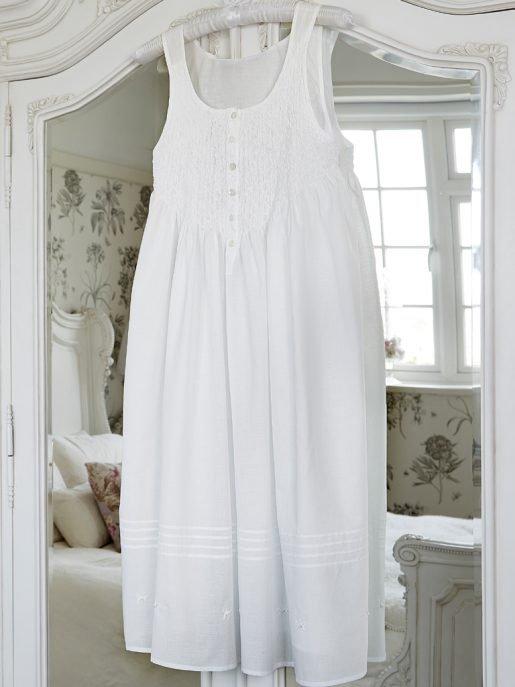 Smocked Cotton Nightdress