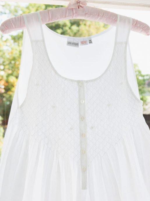 Smocked Cotton Victorian Style Nightdress.