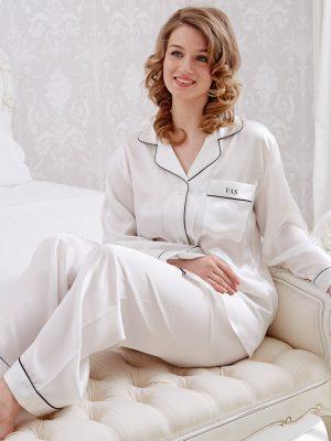 Cream Silk Coco Pyjamas