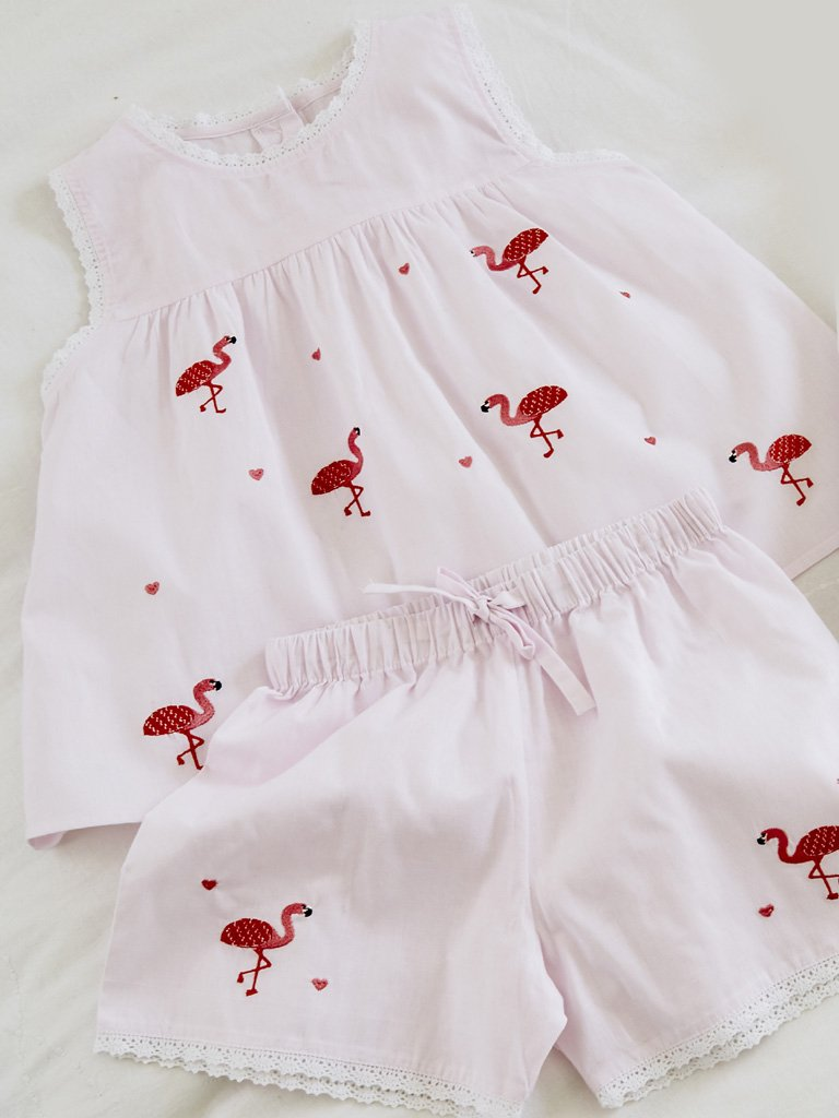 Pink Flamingo Cotton Pyjamas