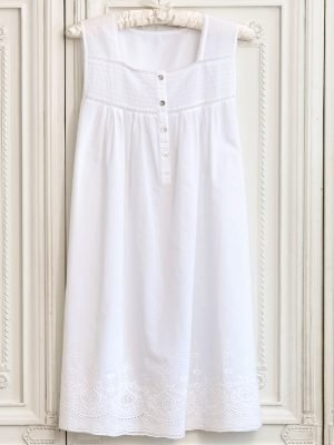 Rosemary Sleeveless Cotton Nightdress