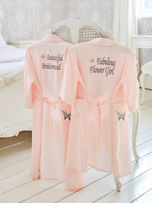 Girl's Bridal Butterfly Dressing Gown