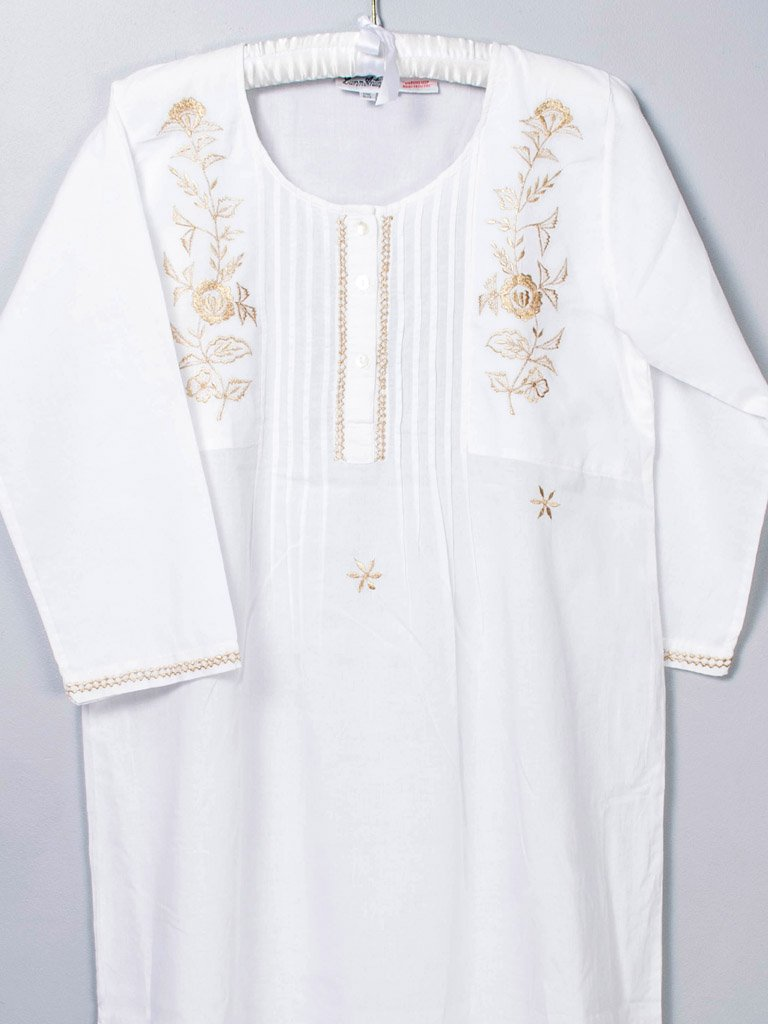 Annabella Gold Cotton Nightdress