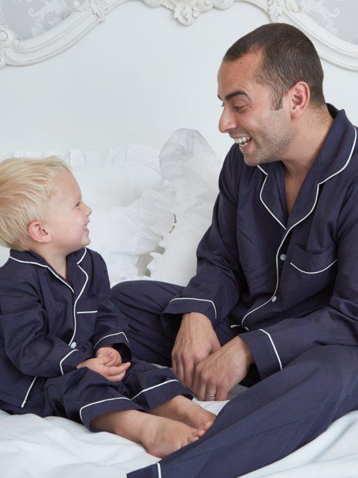 Traditional Navy Cotton Pyjamas