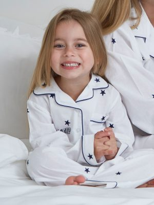 Mini Star Embroidered Cotton Pyjamas