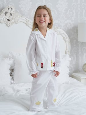 a78ecdc5c Vintage Inspired Children s Cotton Pyjamas