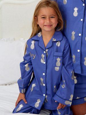 Mini Pineapple Cotton Pyjamas