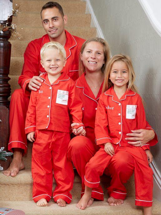 Family Red Cotton Pyjamas