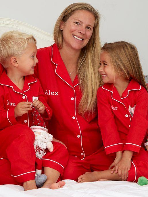 Women's Red Cotton Pyjamas