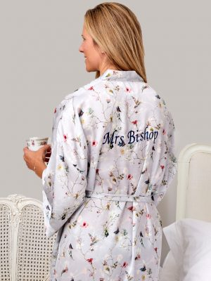 Butterfly Floral Printed Kimono