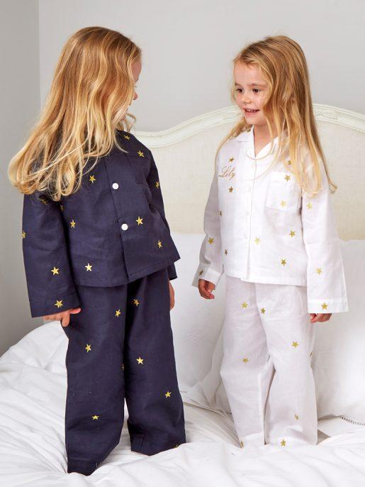 Navy and Gold Star Pyjamas